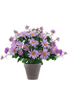 Künstliche Margeriten Topfblumen lavendel 43 cm