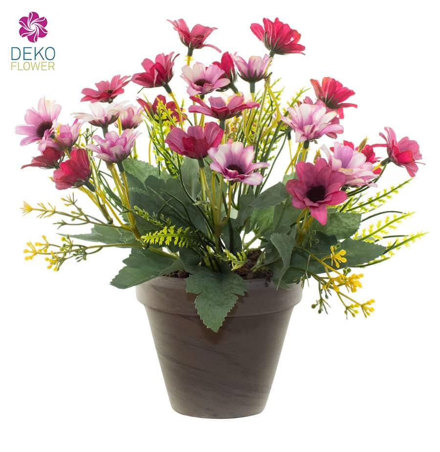 Künstlicher Margeritenbusch pink 27 cm