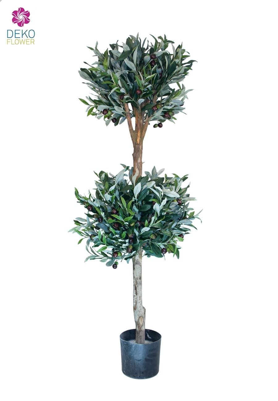 Künstlicher Doppelkugel Oliven Baum 140 cm