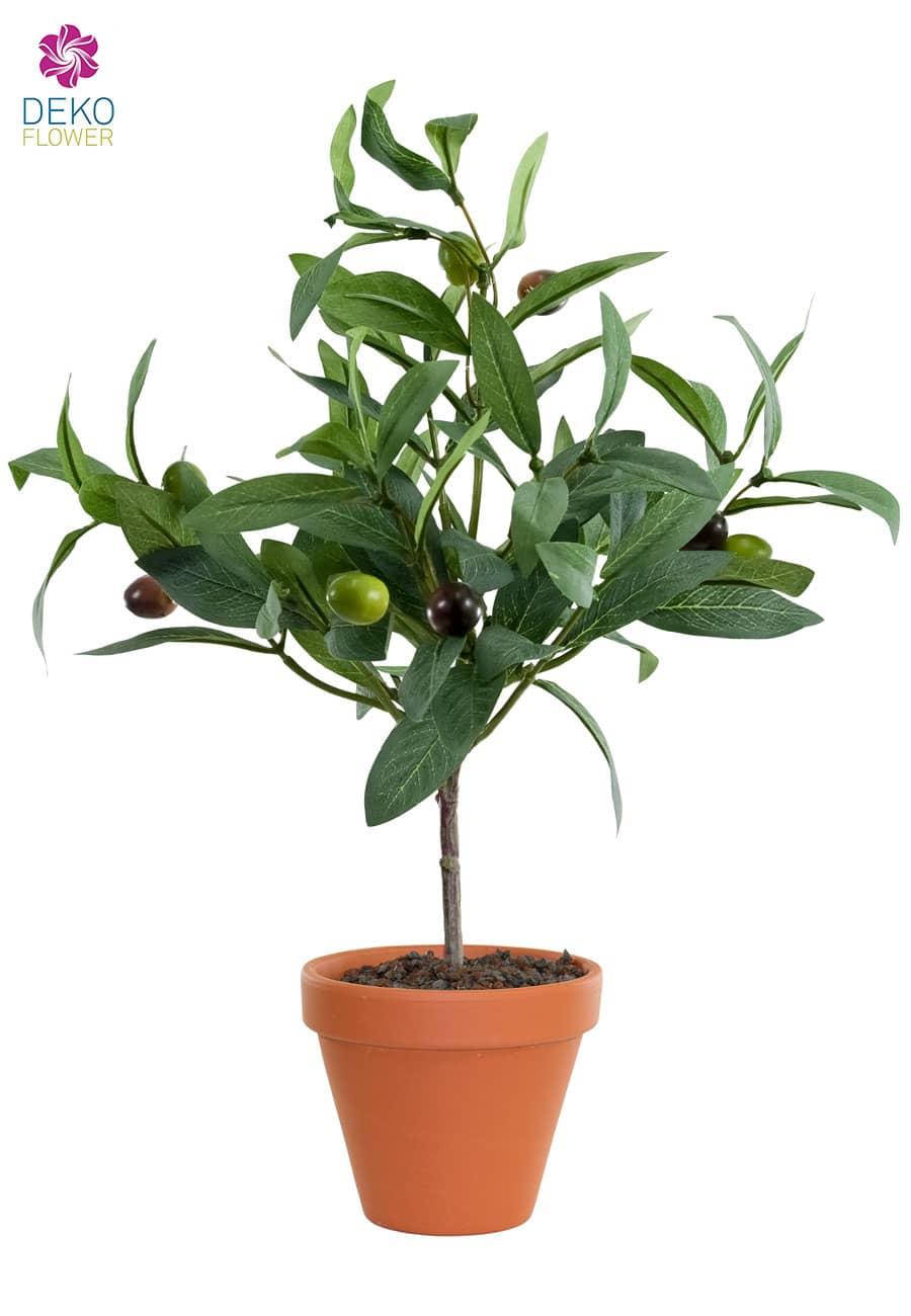 Künstliche Oliven Topfpflanze 27 cm