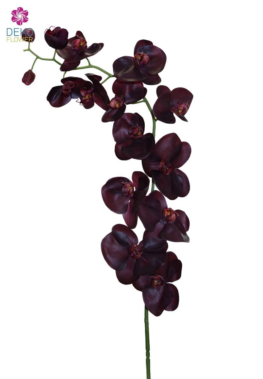 Künstlicher Orchideenzweig weinrot 130 cm