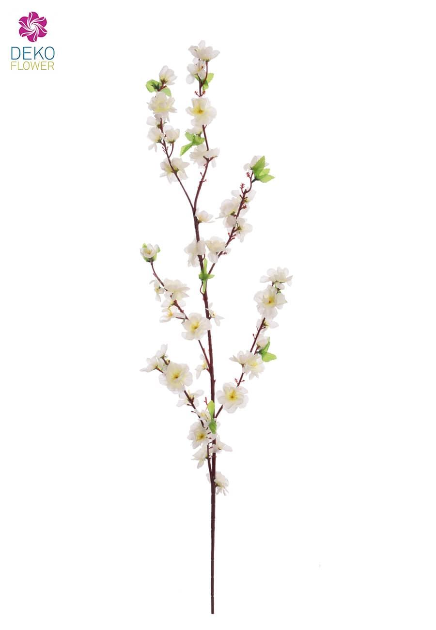 Künstlicher Pfirsich Blütenzweig weiß 120 cm 3er Pack