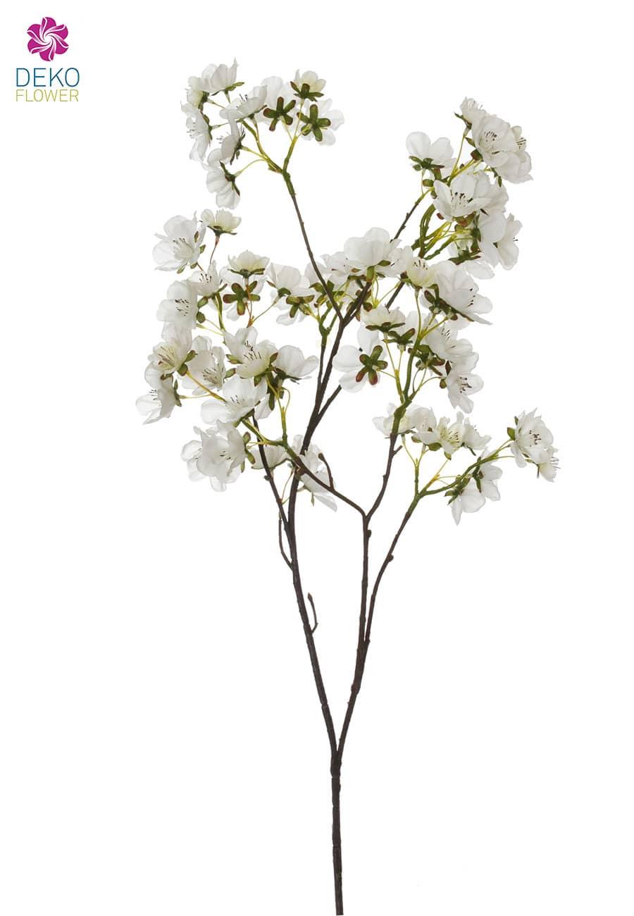 Künstlicher Pfirsich Blütenzweig weiß 72 cm