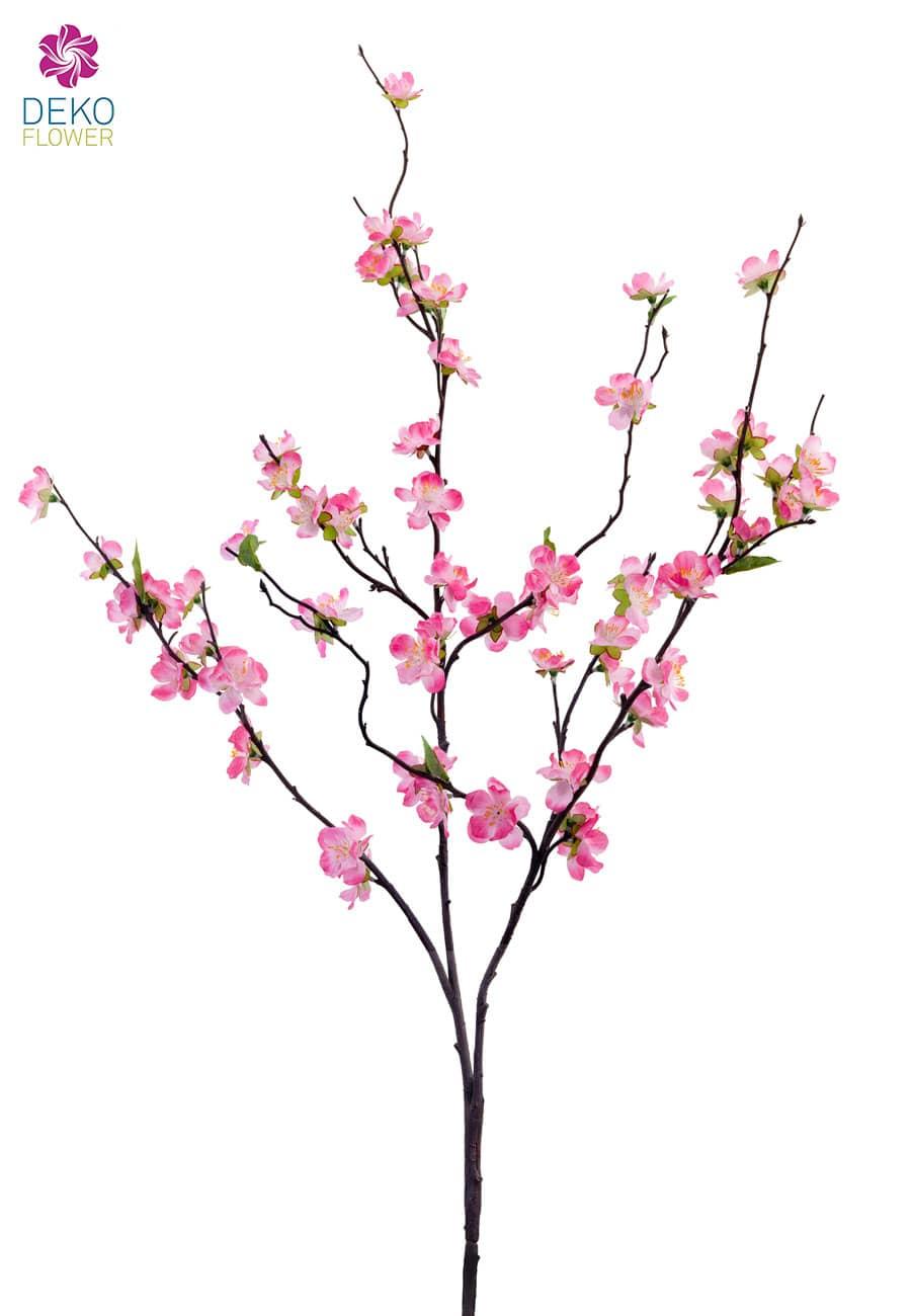 Künstlicher Pfirsich Blütenzweig pink 105 cm 3er Pack