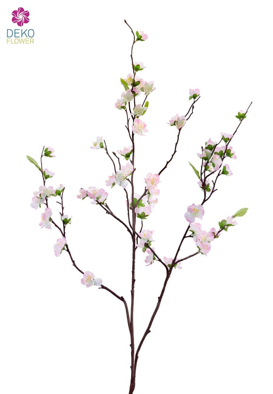Künstlicher Pfirsich Blütenzweig rosa 105 cm 3er-Pack