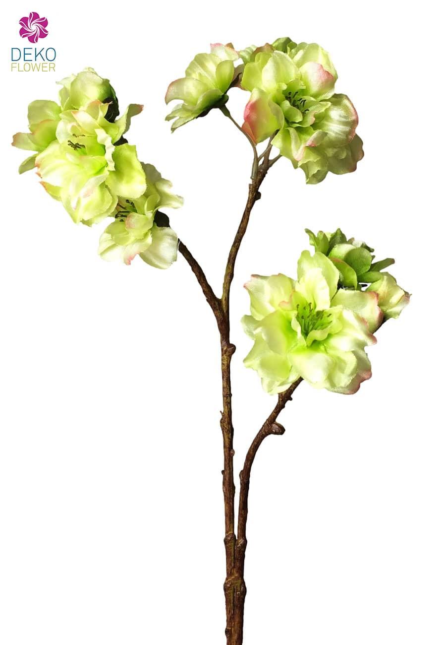 Künstlicher Pfirsich Blütenzweig grün 32 cm 6er Pack