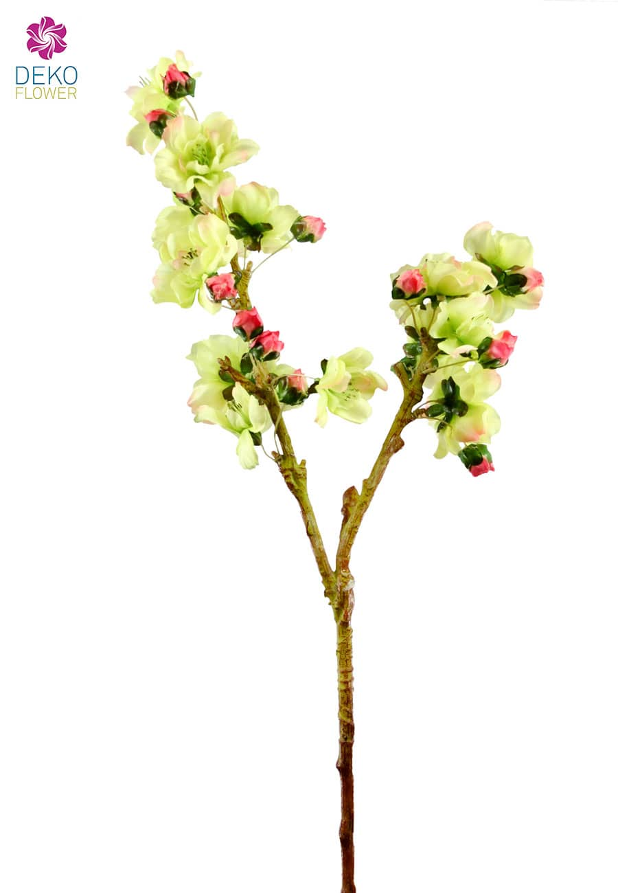 Pfirsichblütenzweig grün 48cm, 3er-Pack