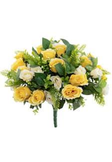 Künstlicher Rosenstrauß gelb 50 cm