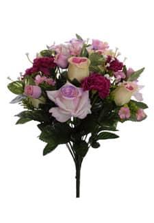 Künstlicher Rosenstrauß lila 44 cm