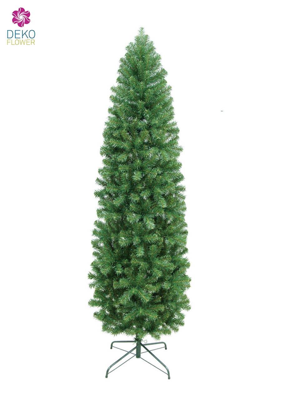 Künstlicher Weihnachtsbaum 210 cm grün Slim Pencil Pine