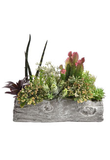 Künstliches Gesteck mit Sukkulenten 25 cm