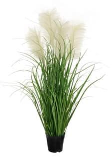 Künstliches Fontänen Gras mit großen Wedeln 120 cm grün