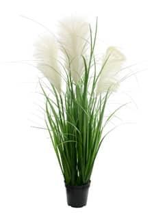 Künstliches Fontänen Gras mit großen Wedeln 95 cm grün