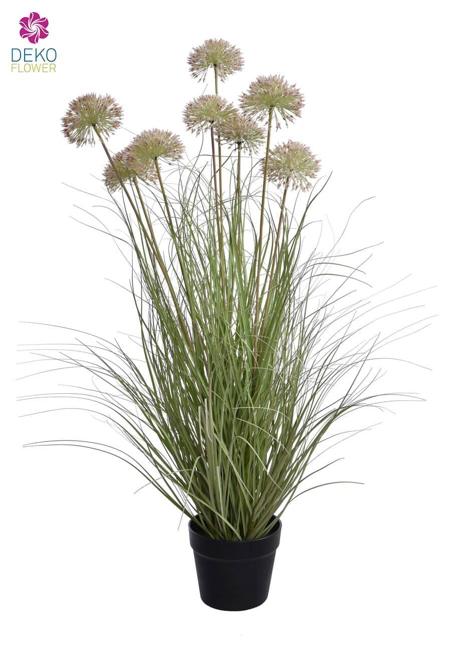 Künstliches Gras getopft mit Zierlauch 93 cm