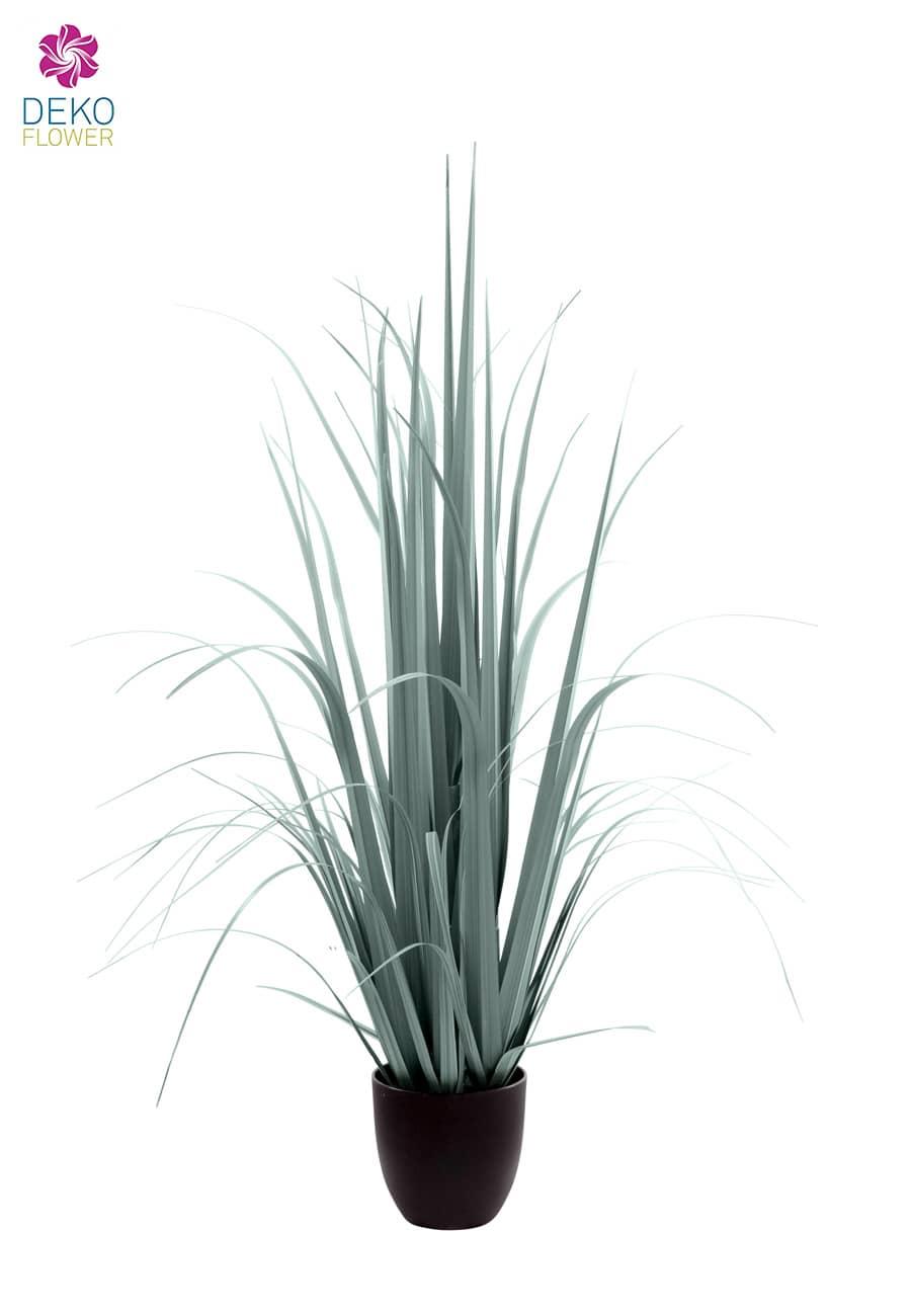 Künstliches Yucca Gras im Topf grau grün 120 cm
