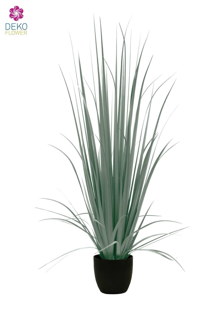 Künstliches Yucca Gras im Topf grau grün 150 cm