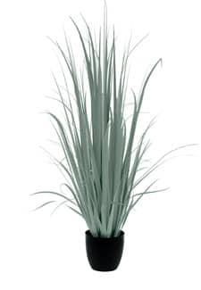 Künstliches Yucca Gras im Topf grau-grün 180 cm