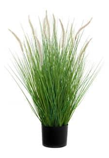 Künstliches Gras mit Federborsten getopft 80 cm grün