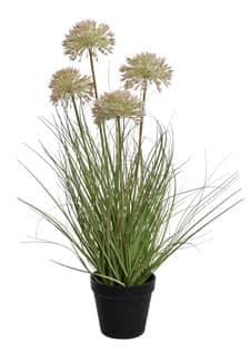 Künstliches Gras mit Zierlauch 60 cm