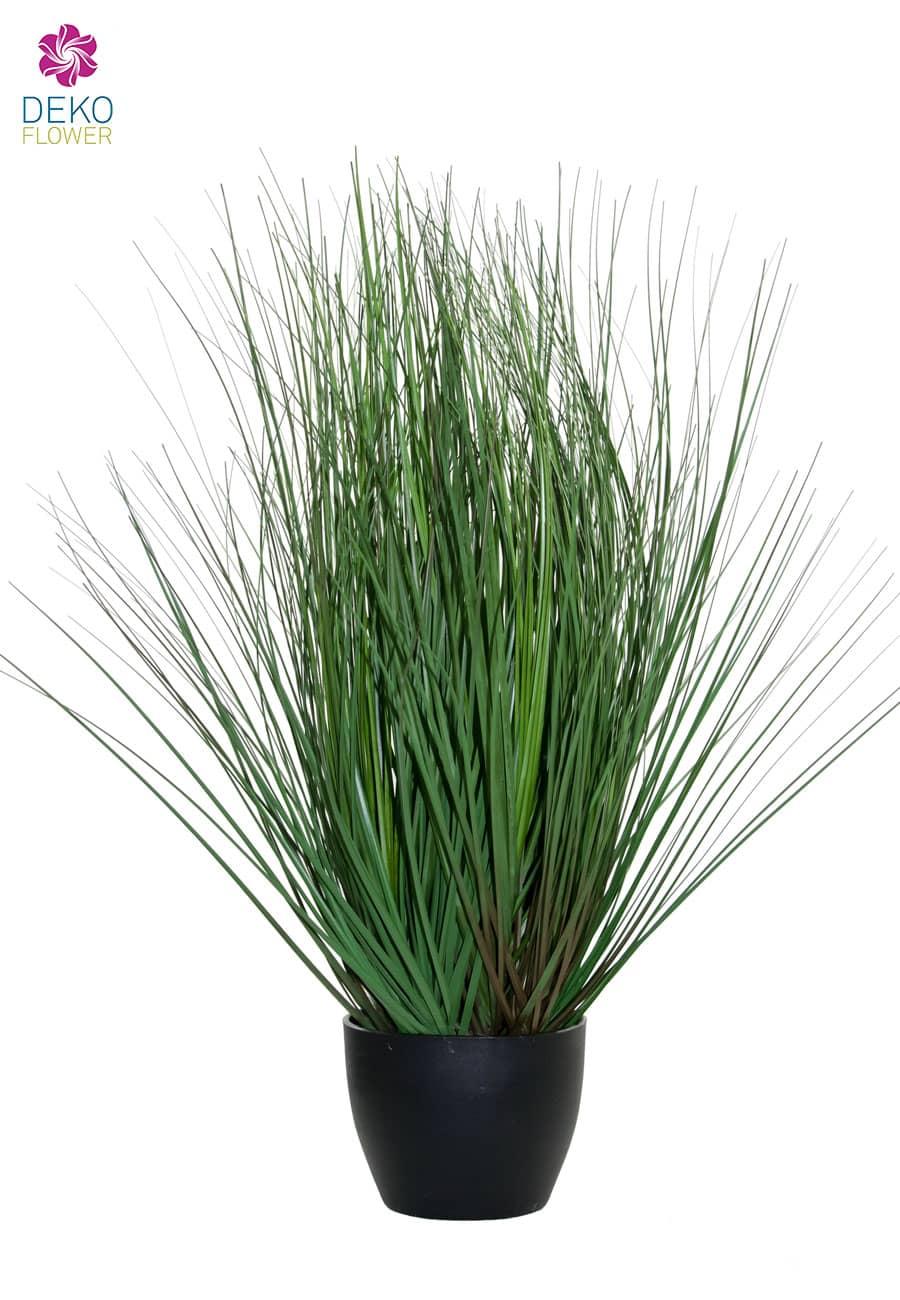 Künstliches grünes Berg Gras im Topf 49 cm
