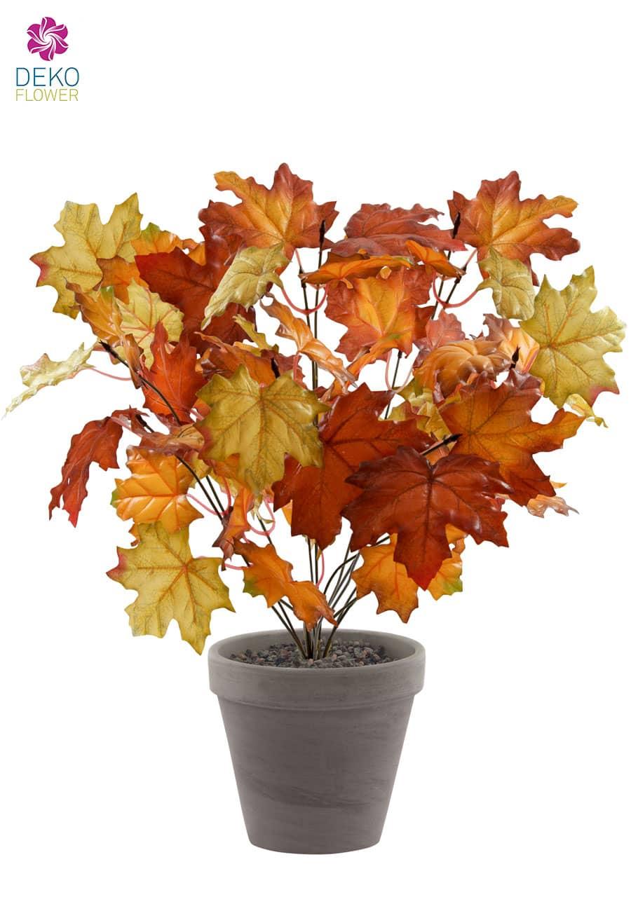 Künstliche Herbstlaub Pflanze braun 44 cm
