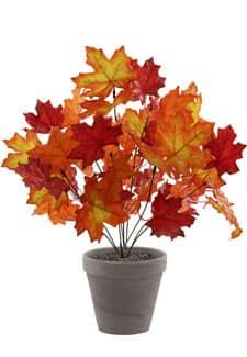 Künstliches Herbstlaub orange 44cm