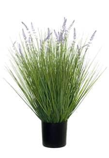 Künstliches Lavendel Gras getopft 60 cm grün