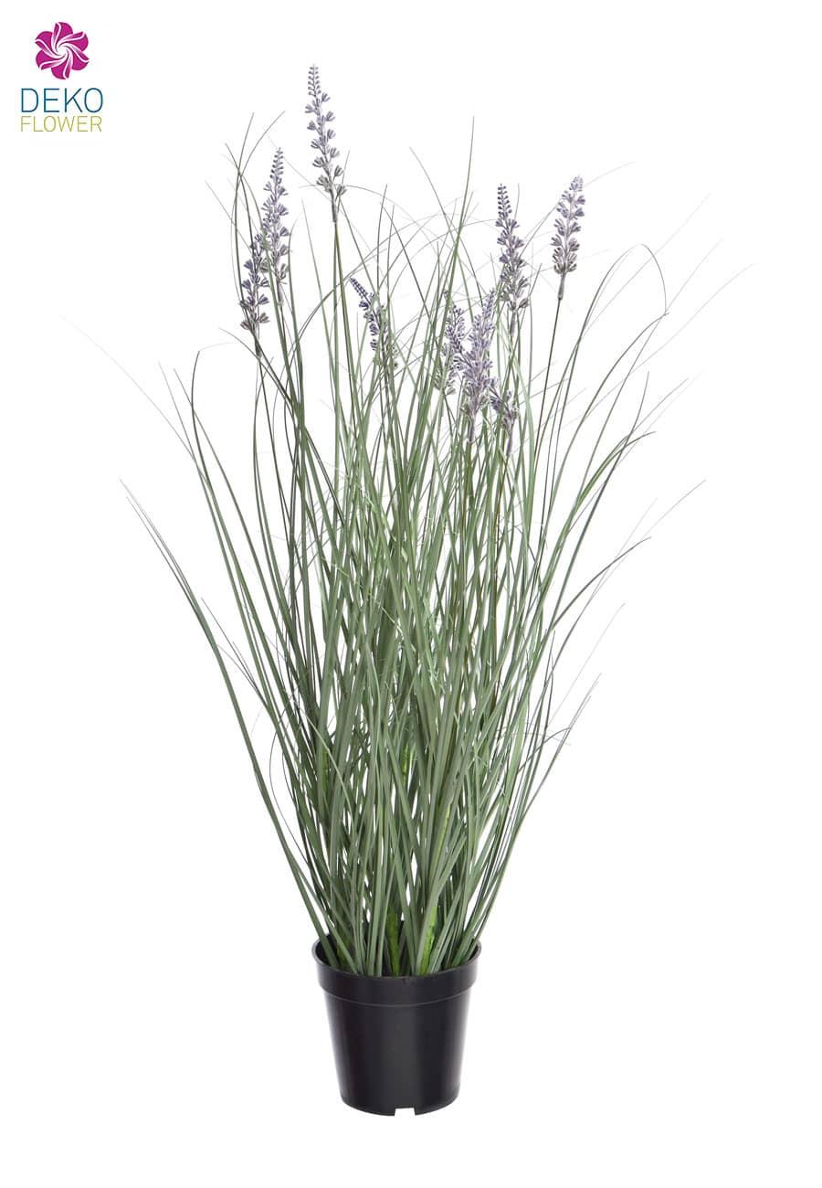 Künstliches Lavendelgras getopft 73 cm
