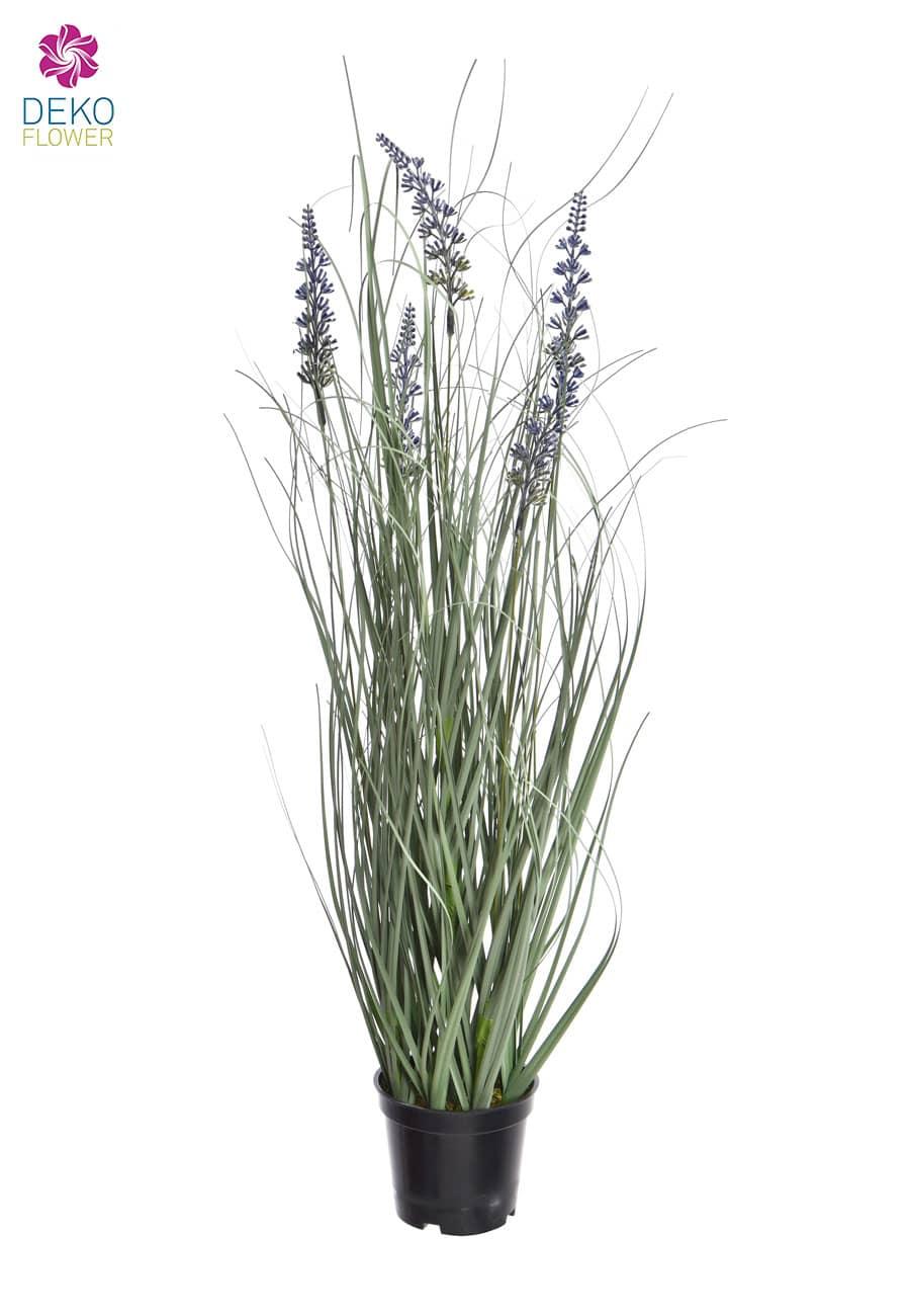 Künstliches Lavendelgras im Topf 60 cm