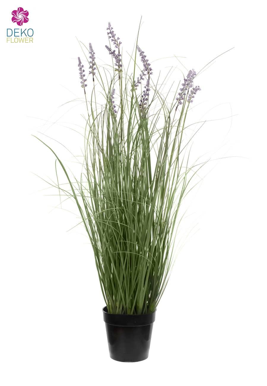 Künstliches Lavendelgras im Topf 91 cm