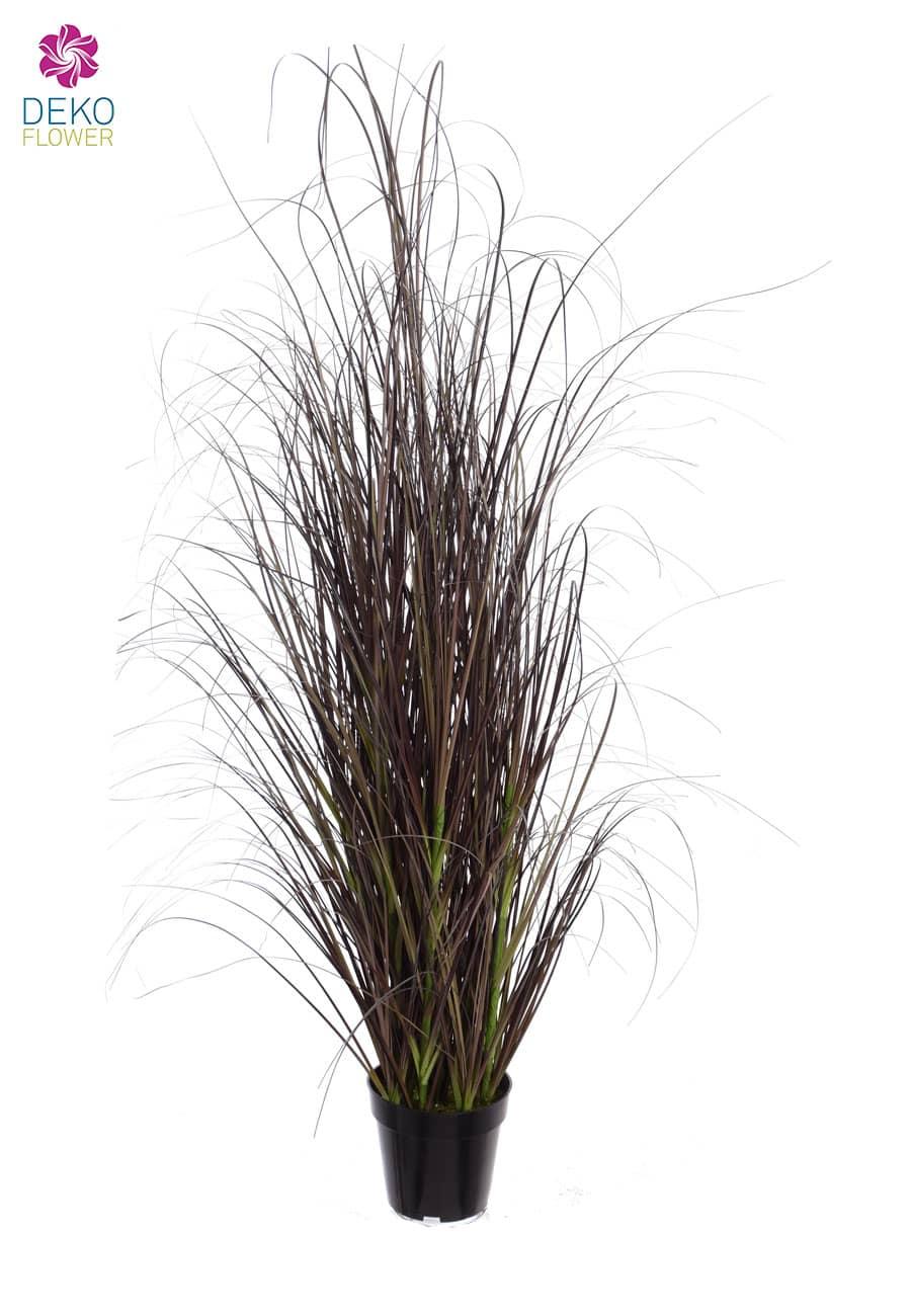 Künstliches Moor Gras im Topf 125 cm lila
