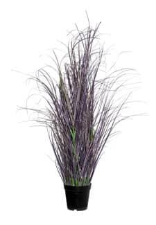 Künstliches Moor Gras 85 cm grün lila