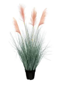 Künstliches Pampasgras 114 cm lachsrosa Wedel