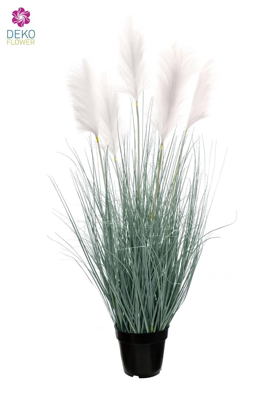 Künstliches Pampasgras 139 cm weiße Wedel
