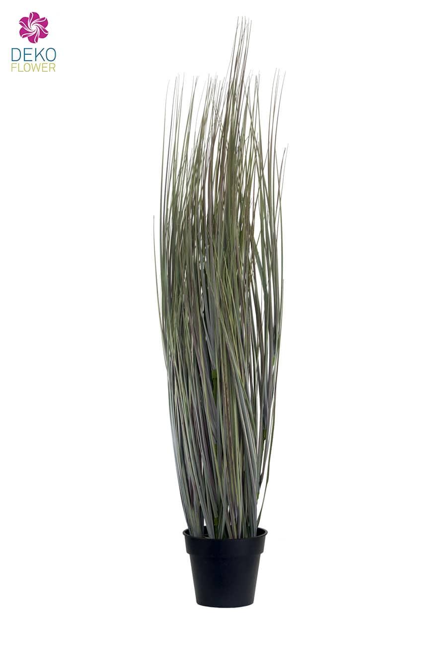 Künstliches Präriegras grau-grün im Topf 90cm