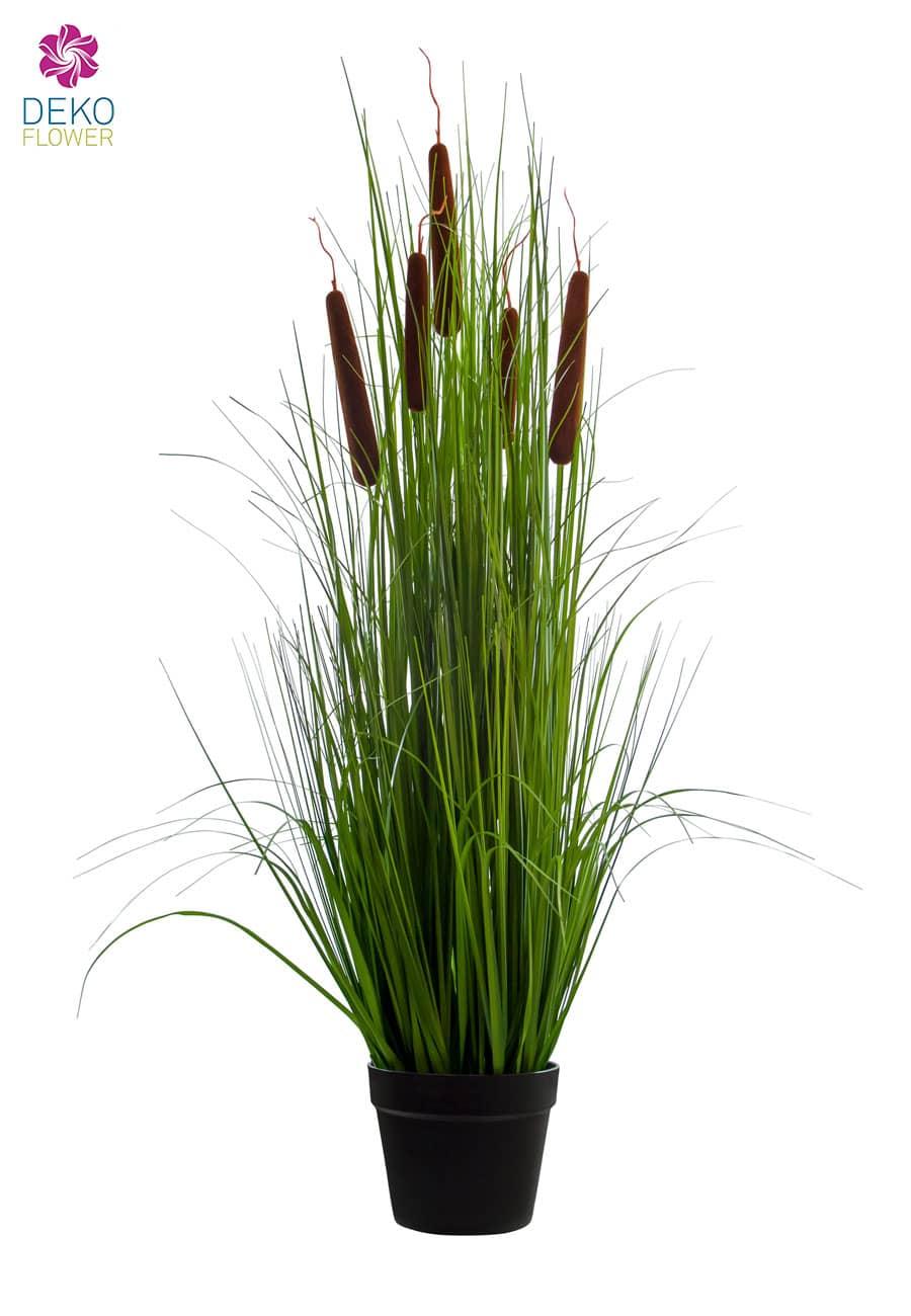 Künstliches Schilfrohr Gras im Topf 113 cm