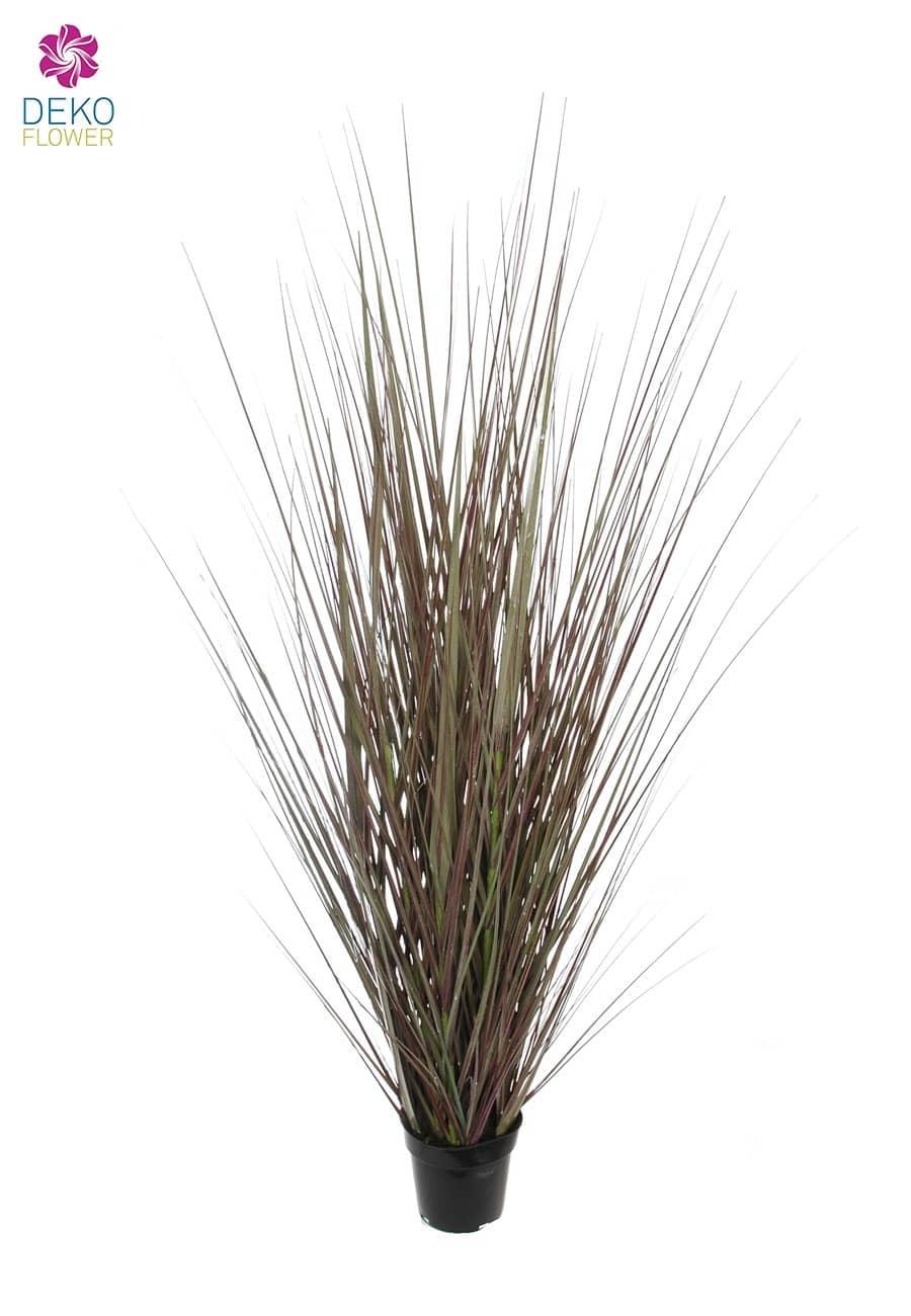 Künstliches Steppen Gras grau braun 140 cm