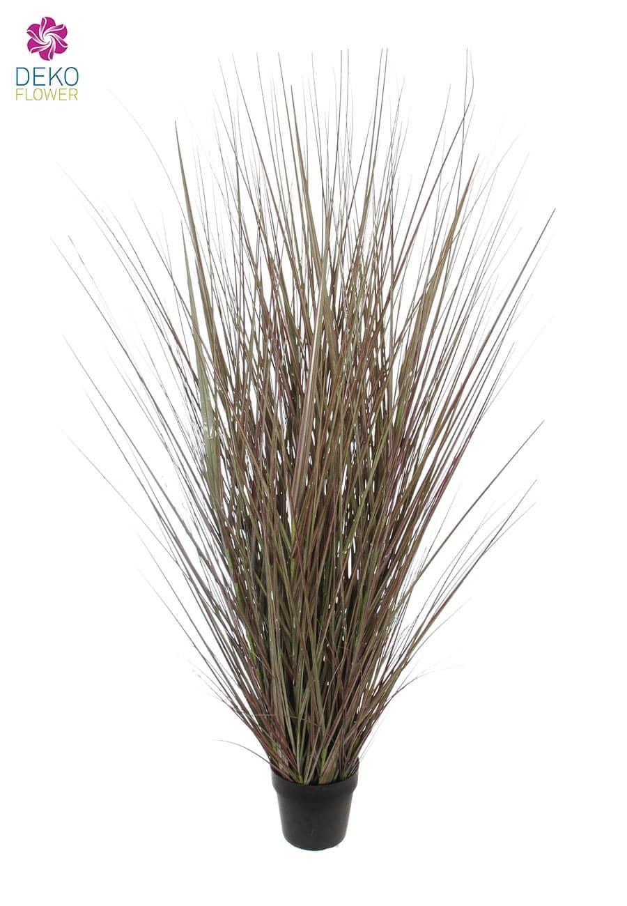 Künstliches Steppen Gras grau braun 160 cm