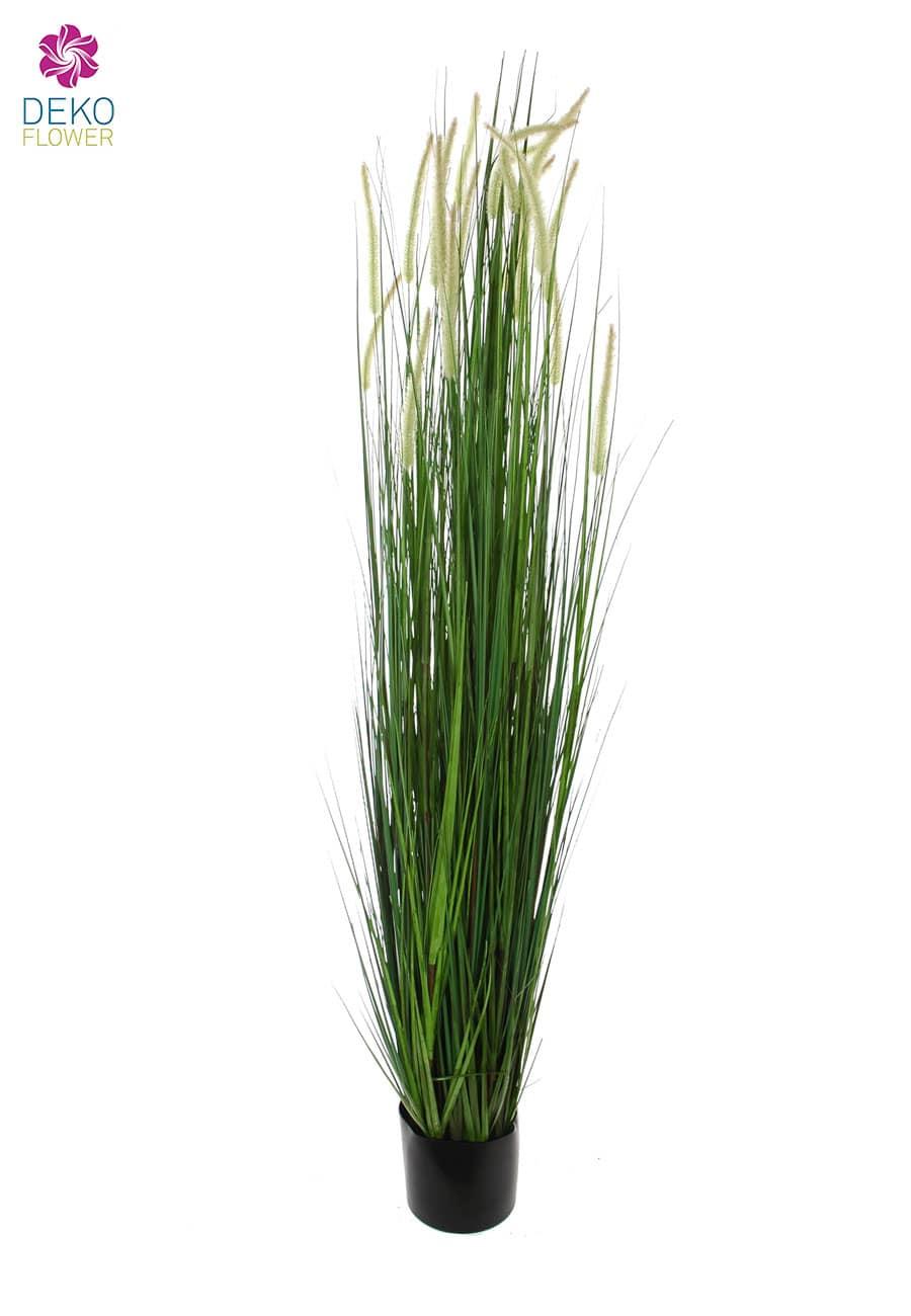 Künstliches Wiesenkammgras getopft grün 183cm