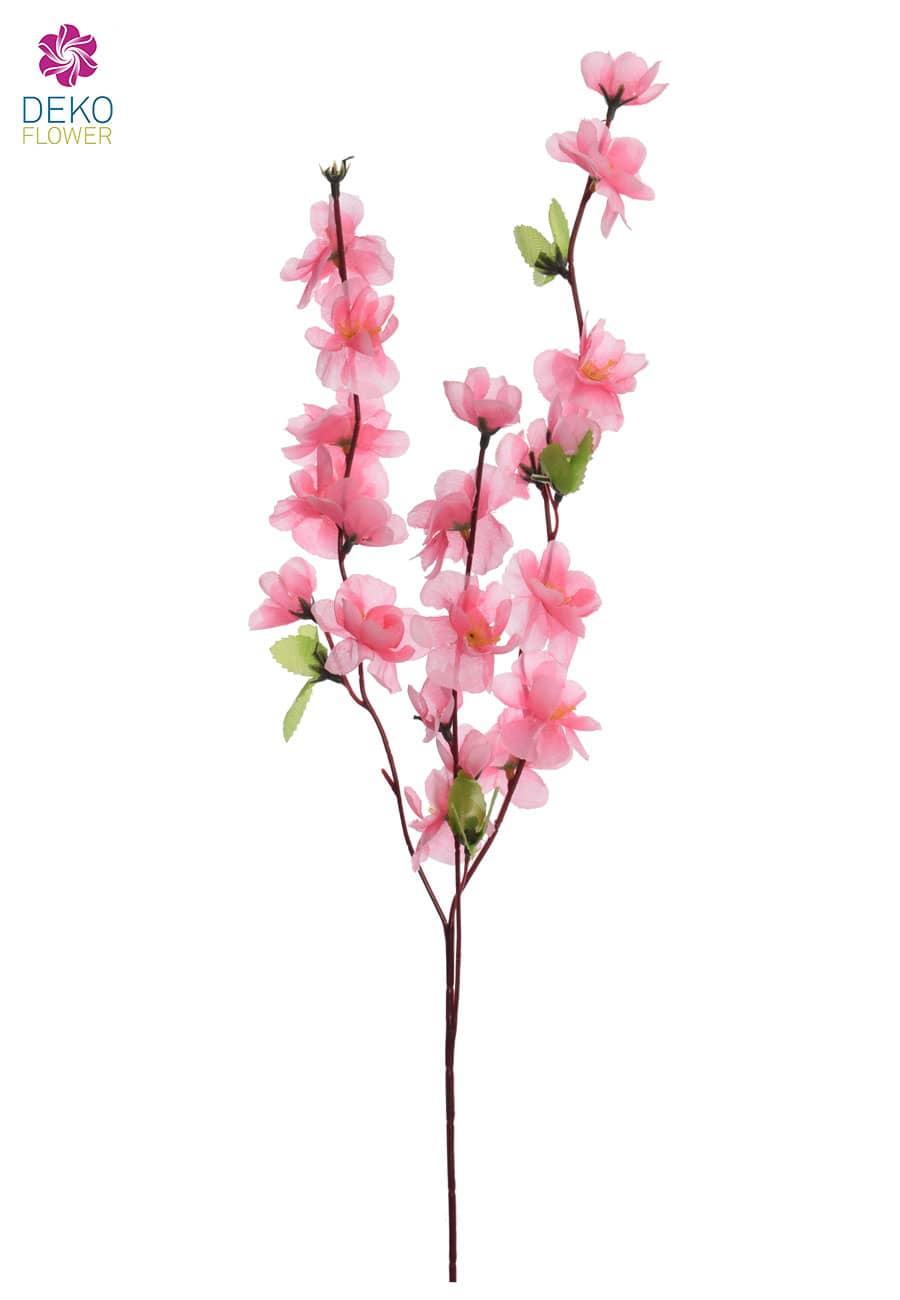 Künstlicher Blütenzweig rosa 65 cm, 6er-Set