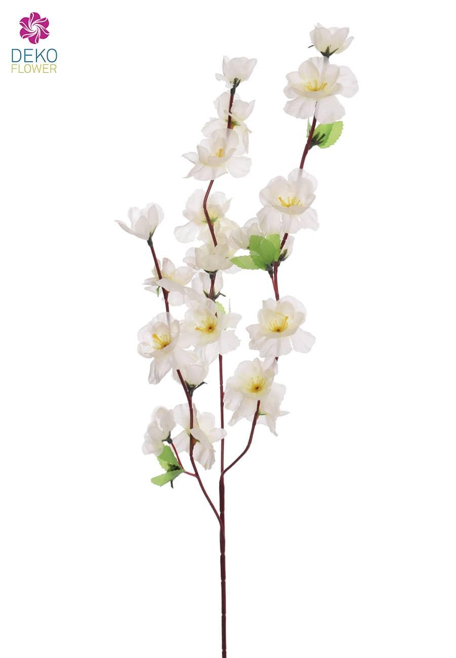 Künstlicher Blütenzweig weiß 65 cm, 6er-Set
