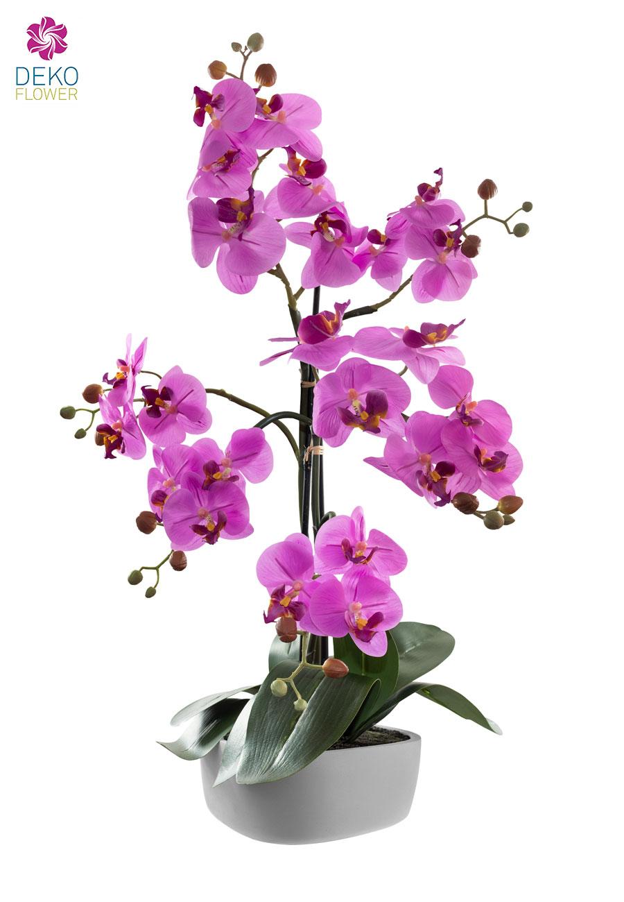 Kunst Orchidee pink 60 cm