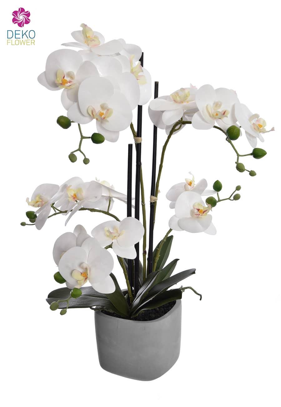 Kunst Orchidee weiß 56 cm