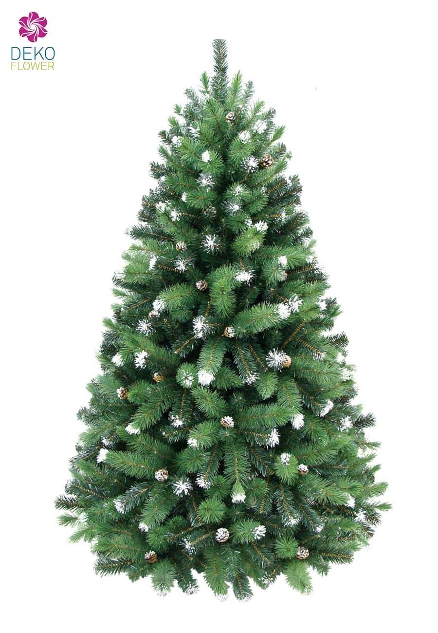 Kunst Tannenbaum Juniper Snow 180 cm mit Tannenzapfen