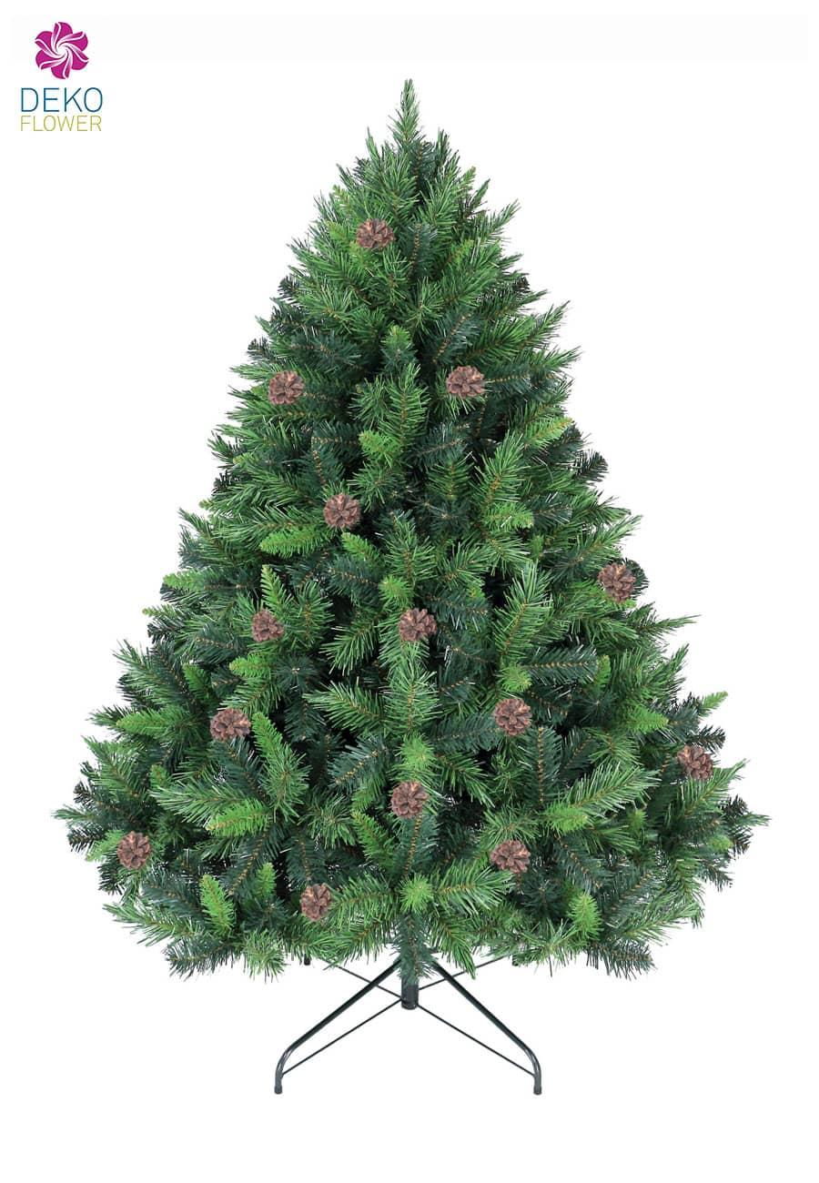 Kunst Tannenbaum Mixed Pine 150 cm mit Tannenzapfen
