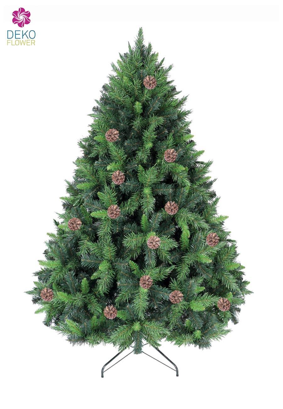 Kunst Tannenbaum Mixed Pine 180 cm mit Tannenzapfen