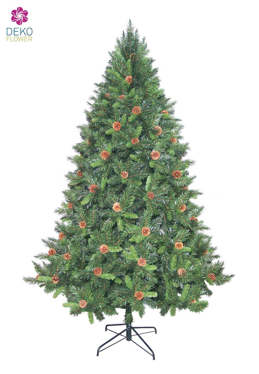 Kunst Tannenbaum Mixed Pine 240 cm mit Tannenzapfen