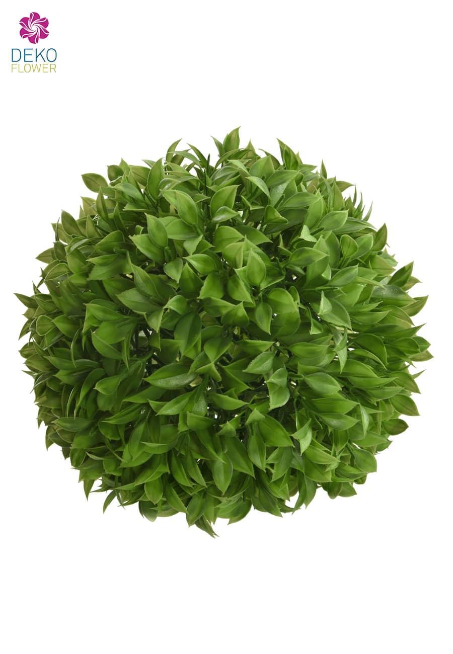 Kunstblattkugel 26 cm grün