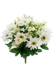 Kunstblumenstrauß weiß 41 cm