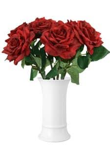Künstliche Rosen Olympia dunkelrot 6er-Pack 30cm